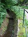 Zbraslav, Záběhlický potok, zpevněné koryto.jpg