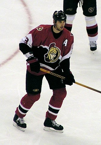 Zdeno Chára - Zdeno Chára during his tenure with the Senators