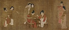 Zhou Fang. Court Ladies Playing Double-sixes. Freer Gallery of Art.jpg