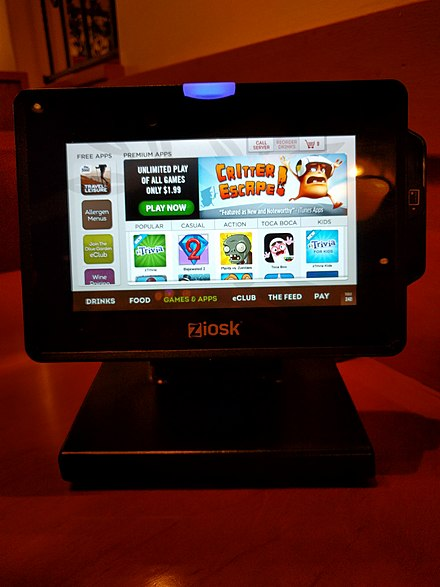 Games on a Ziosk table ordering tablet at an Olive Garden restaurant Ziosk games.jpg