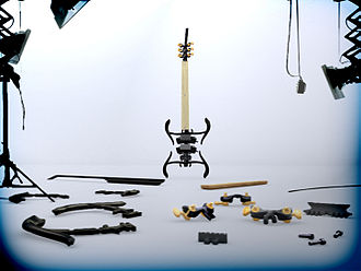 Open-design movement - Zoybar open source guitar kit With 3-D printed body