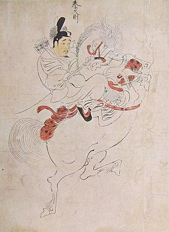 Nise-e - Imperial guardians handscroll detail