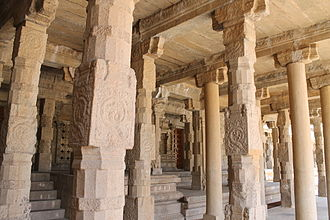 Post and lintel - Post and lintel construction of the World Heritage Monument site Airavatesvara Temple, India