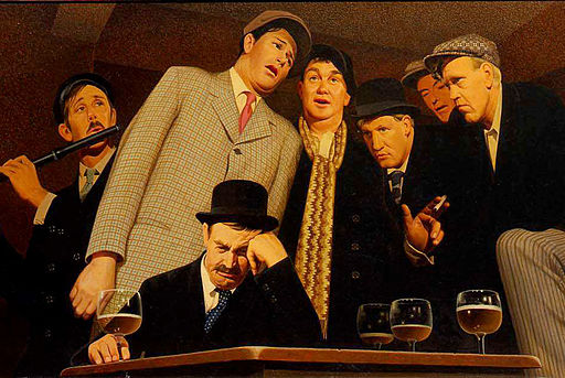 'Sentimental Ballad' by Grant Wood, 1940