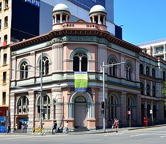 Bank of New South Wales - Former Bank of New South Wales, Broadway, Sydney, designed by Varney Parkes