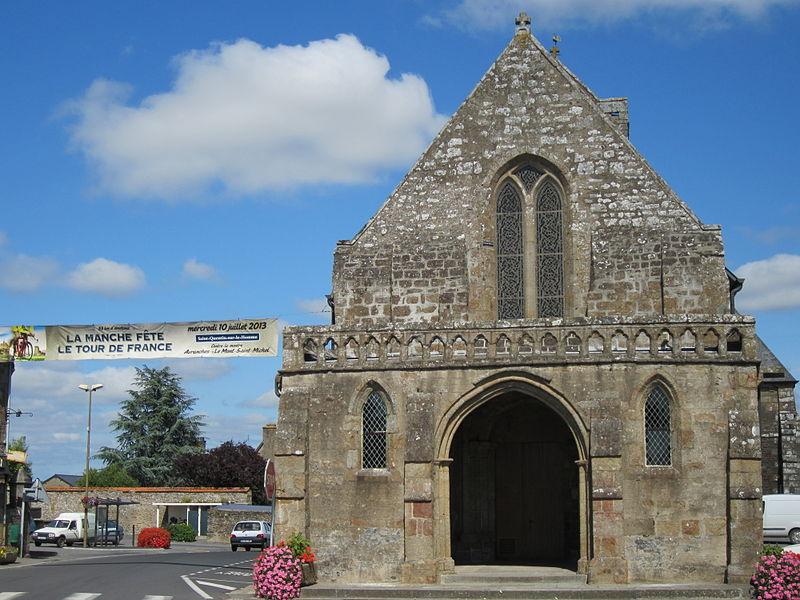 église de Saint-Quentin-sur-le-Homme (banderolle du tour de France 2013)