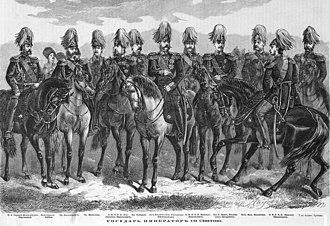 Svita - Alexander II of Russia with Suite, 1869