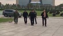 Archivo: Лукашэнка на верталёце прыляцеў у Палац Незалежнасці.webm