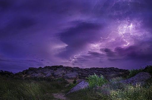 Молния на Каменной могиле