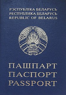 Belarusian passport passport