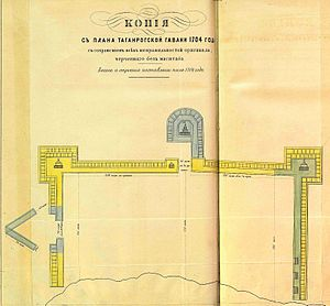 Taganrog Fortress - Plan of Taganrog's haven, 1704.