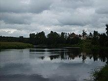 Вид на реку Андога, Кадуюский район, Россия.