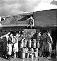 בית-זרע 1943 - המחלבה ורפת א -אלף ליטר חלב ליום עם הצוות מימין- שלמה ג btm11411.jpeg