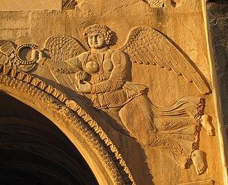 Nike (mythology) - Nike in Taq Bostan, Iran
