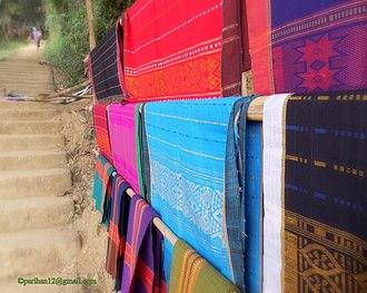 Rangamati Hill District - Kaptai Lake Indigenous group's Hand loom cloth called Thami