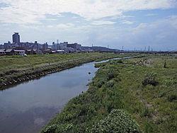 聖蹟桜ヶ丘の北を流れる多摩川130805.jpg