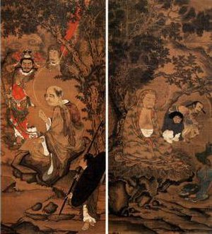 Korean painting - Arahat, Joseon buddhist painting in the 16th century Korea.