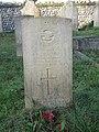 -2020-11-06 CWGC gravestone, Kenneth Stuart Chalmers, (576578) Royal Air Force Volunteer Reserve, St Bartholomew's, Hanworth, Norfolk.JPG