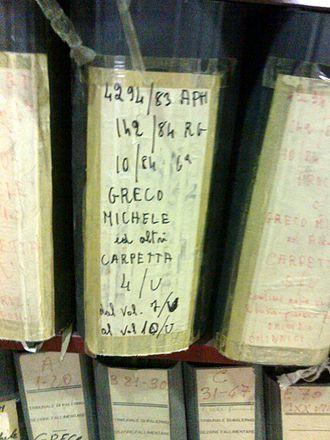 Michele Greco - Documentation Centre about the Mafia, Corleone, Sicily.