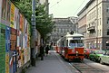 056R27270679 Strassenbahn, Schottenring, Haltestelle Börse, Peregringasse, Strassenbahn Linie T Typ E1 4722.jpg