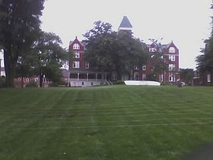 This is a photo of Graves Hall, the first buil...