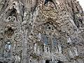 063 Sagrada Família, façana del Naixement, portes de l'Esperança i la Caritat.jpg