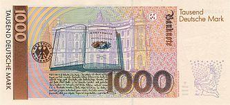 Illustration der Grimms zum Märchen auf der Rückseite des 1000 DM-Schein (ab 1992)