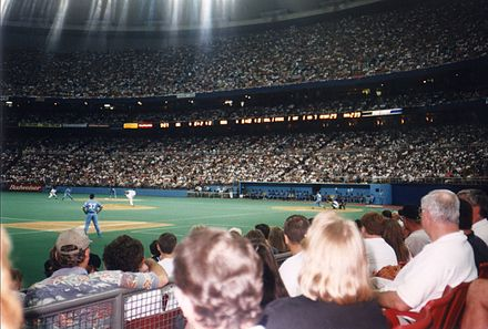 Hosting the Kansas City Royals in July 1997