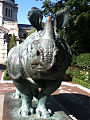 14 06 17 Rhino Statue at Bronx Zoo NY version 2.jpg