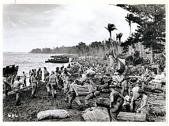 New Zealand Defence Force - New Zealand troops land on Guadalcanal in the Solomons