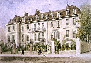 Lindsey House - An 1850 watercolour of the house by Thomas Hosmer Shepherd