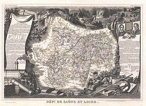 1852 Levasseur Map of the Department De Saone ...