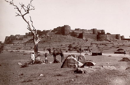 Jhansi Fort, which was taken over by rebel forces, and subsequently defended against British recapture by the Rani of Jhansi 1857 jhansi fort2.jpg