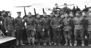 185th Aero Squadron - Officers of the 185th Aero Squadron, Rembercourt Aerodrome, France, November 1918
