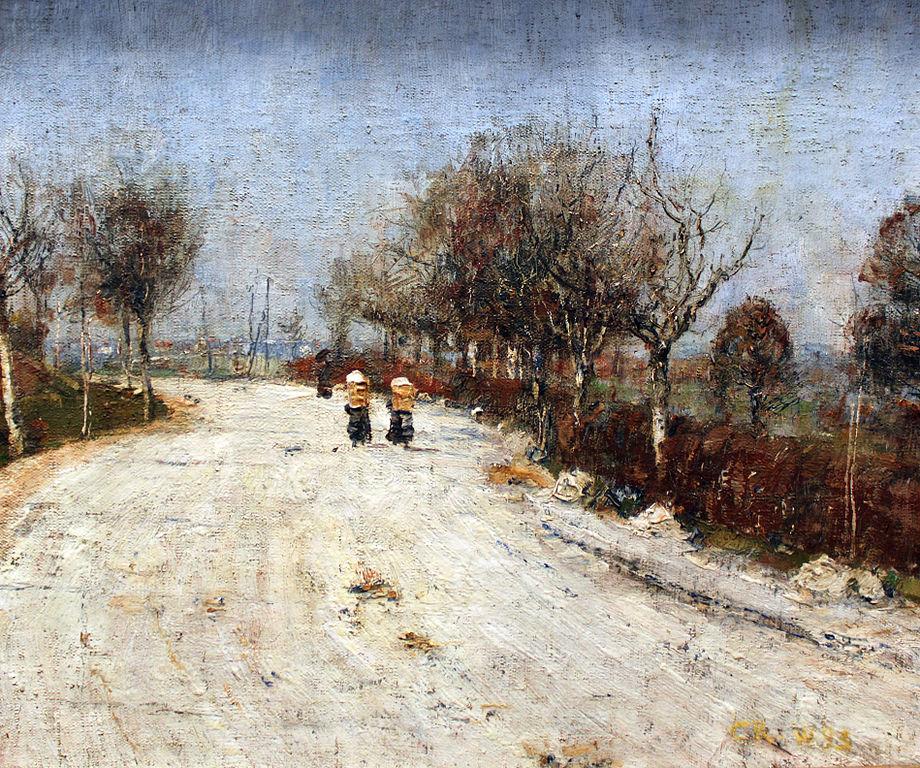 La route pour Gelmeroda de Rohlfs (1893) au musée Alte Nationalgalerie de Berlin.