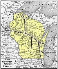 1901 Wisconsin Central map (Wisconsin highlighted).jpg