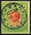 1912 East Africa & Uganda Protectorates 4r stamp used Mombasa 1914.jpg