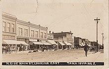 1913 RPPC of Main St., Tama, Iowa.jpg