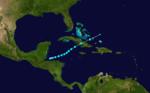 1927 Atlantika tropika ŝtormo 6 track.png