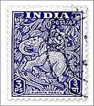1949 definitive stamps (Ajanta Panel) 3P.jpg