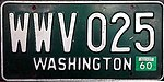 1960 Washington Vehicle License Plate.jpg