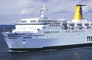 MS Theofilos - Nils Holgersson at Travemünde in 1981