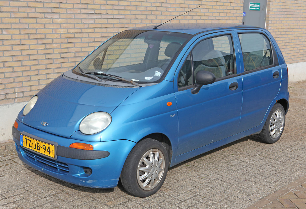 File:1998 Daewoo Matiz 4 door (8066703010).jpg - Wikimedia Commons
