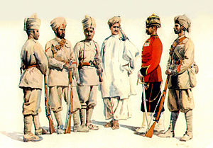 14th Punjab Regiment - Image: 19th Punjabis (5 Punjab) (Afridi, Sikh, Bangash, Swati, Yusufzai, PM) 1910