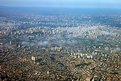 The sheer size of Sao Paulo can be seen from above.