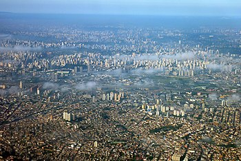 English: aerial photograph of Sao Paulo Brazil...
