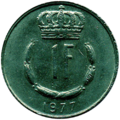 1 franc Luxembourg Jean I (1977)-revers.png