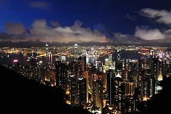 1 hong kong panorama 2011 dusk victoria peak