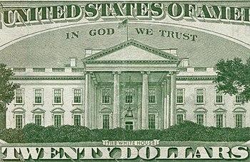 English: Enlargement of the 20-dollar bill. En...