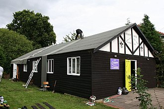 Bituminous waterproofing - Replacing the roofing felt on a Scout hall in Wales.
